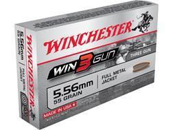 Winchester Win3Gun Ammunition 5.56x45mm NATO 55 Grain Full Metal Jacket