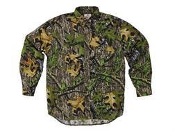 Russell Outdoors Men's Explorer Shirt Long Sleeve Cotton Polyester Blend Mossy Oak Obsession Camo Medium 38-40
