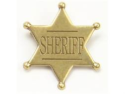 Collector's Armoury Replica Old West Antique Sheriff Badge Brass