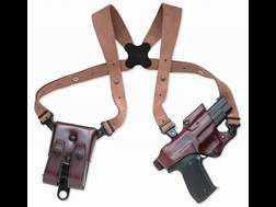 Galco Jackass Rig Shoulder Holster System Right Hand Glock 20, 21, 29, 30, 39, 41 Leather Havana