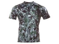 Sitka Gear Men's Core Crew Base Layer Shirt Short Sleeve Polyester Gore Optifade Elevated Forest Camo Small 36-38