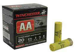 "Winchester AA Super Sport Sporting Clays Ammunition 20 Gauge 2-3/4"" 7/8 oz #8 Shot"