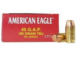 Federal American Eagle Ammunition 45 GAP 185 Grain Total Metal Jacket Box of 50