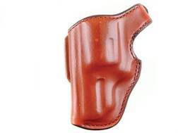 "Bianchi 55L Lightnin' Holster Left Hand Ruger SP101, S&W 640, 642 J-Frame Hammerless 2"" Barrel Suede Lined Leather Tan"