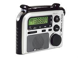 Midland ER102 Emergency Crank Radio with NOAA Weather White and Black