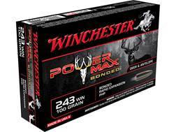 Winchester Power Max Bonded Ammunition 243 Winchester 100 Grain Protected Hollow Point Box of 20