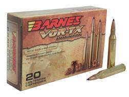 Barnes VOR-TX Ammunition 25-06 Remington 100 Grain Tipped Triple-Shock X Bullet Boat Tail Lead-Free Box of 20