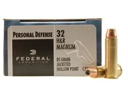 Federal Premium Personal Defense Ammunition 32 H&R Magnum 85 Grain Jacketed Hollow Point Box of 20