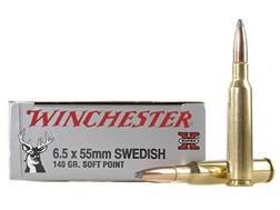 Winchester Super-X Ammunition 6.5x55mm Swedish Mauser 140 Grain Soft Point
