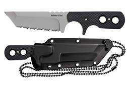 "Cold Steel Mini Tac Fixed Blade Knife 3-3/4"" Tanto Point AUS 8A Stainless Steel Blade G10 Handle"