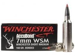 Winchester Supreme Ammunition 7mm Winchester Short Magnum (WSM) 160 Grain Nosler AccuBond