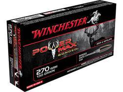 Winchester Power Max Bonded Ammunition 270 Winchester 130 Grain Protected Hollow Point Case of 200 (10 Boxes of 20)