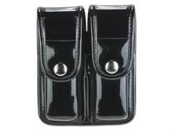 Bianchi 7902 AccuMold Elite Double Magazine Pouch Double Stack 9mm, 40 S&W Chrome Snap Basketweave Trilaminate Black
