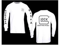 "Glock T-Shirt Long Sleeve Cotton White Large (44"")"