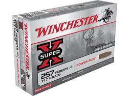 Winchester Super-X Ammunition 257 Roberts +P 117 Grain Power-Point