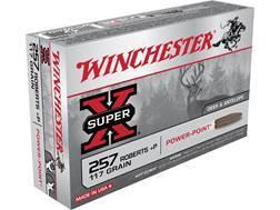 Winchester Super-X Ammunition 257 Roberts +P 117 Grain Power-Point Box of 20