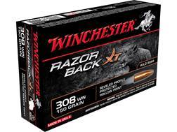 Winchester Razorback XT Ammunition 308 Winchester 150 Grain Hollow Point Lead-Free