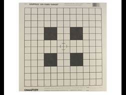 "Champion Official NRA 100 Yard Scope Sighting-In Targets 14"" x14"" Paper Package of 12"