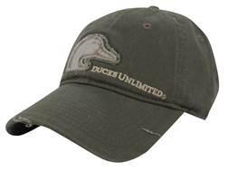 Ducks Unlimited Frayed Logo Cap Cotton Olive