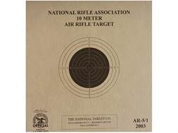 NRA Official Air Rifle Targets AR-5/1 10 Meter Air Rifle Paper Package of 100