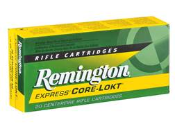 Remington Express Ammunition 30 Remington AR 125 Grain Core-Lokt Pointed Soft Point Box of 20