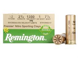 "Remington Premier Nitro Gold Sporting Clays Ammunition 12 Gauge 2-3/4"" 1 oz #7-1/2 Shot High Velocity"