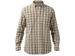 Beretta Men's Seersucker Travel Shirt Long Sleeve Cotton Orange Plaid XL