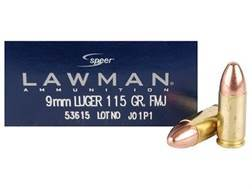 Speer Lawman Ammunition 9mm Luger 115 Grain Full Metal Jacket