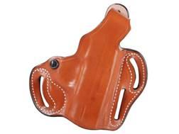 DeSantis Thumb Break Scabbard Belt Holster FN FNS Longslide 9mm, 40S&W Suede Lined Leather
