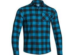 Under Armour Men's Stockton Flannel Shirt Long Sleeve Polyester Pirate Blue Medium 38-40