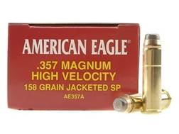Federal American Eagle Ammunition 357 Magnum 158 Grain Jacketed Soft Point Box of 50