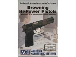"American Gunsmithing Institute (AGI) Technical Manual & Armorer's Course Video ""Browning Hi-Power Pistols"" DVD"
