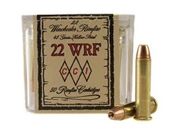 CCI Ammunition 22 Winchester Rimfire (WRF) 45 Grain Jacketed Hollow Point