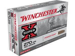 Winchester Super-X Ammunition 270 Winchester 150 Grain Power-Point