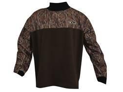 Drake Men's MST Eqwader Plus Waterproof Mock Turtleneck Pullover Polyester Mossy Oak Bottomland Camo Medium
