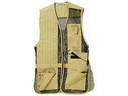 Bob Allen 240M Mesh Back Shooting Vest Right Hand Cotton Twill and Mesh Khaki 2XL