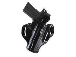 DeSantis Thumb Break Scabbard Belt Holster Right Hand 1911 Commander Suede Lined Leather Black