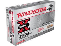 Winchester Super-X Ammunition 25-06 Remington 90 Grain Positive Expanding Point
