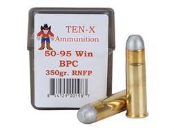 Ten-X Cowboy Ammunition 50-95 WCF 350 Grain Round Nose Flat Point BPC Box of 20