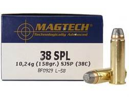 Magtech Sport Ammunition 38 Special 158 Grain Semi-Jacketed Hollow Point Case of 1000 (20 Boxes of 50)