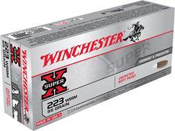 Winchester Super-X Ammunition 223 Winchester Super Short Magnum (WSSM) 55 Grain Pointed Soft Point