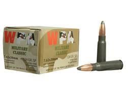 Wolf Military Classic Ammunition 7.62x39mm 124 Grain Jacketed Soft Point (Bi-Metal) Steel Case Berdan Primed