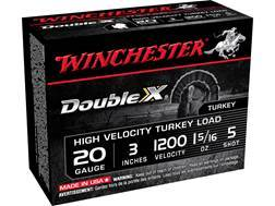 "Winchester Double X Turkey Ammunition 20 Gauge 3"" 1-5/16 oz #5 Copper Plated Shot"