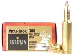 Federal Premium Vital-Shok Ammunition 300 Winchester Short Magnum (WSM) 165 Grain Nosler Partition Spitzer Box of 20