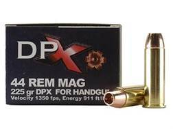 Cor-Bon DPX Ammunition 44 Remington Magnum 225 Grain DPX Hollow Point Lead-Free Box of 20