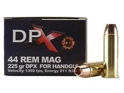 Cor-Bon DPX Ammunition 44 Remington Magnum 225 Grain DPX Hollow Point Lead-Free Box of 20