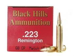 Black Hills Ammunition 223 Remington 68 Grain Match Hollow Point Box of 50