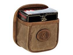 Browning Santa Fe Shell Box Carrier with Metal Clip Waxed Cotton Canvas Tan