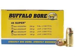 Buffalo Bore Ammunition 45 Super 200 Grain Jacketed Hollow Point Box of 50