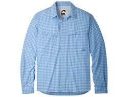 Mountain Khakis Men's Skiff Shirt Long Sleeve Synthetic Blend Bahama Blue Multi XXL 49-51